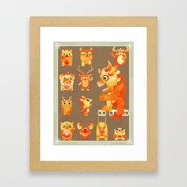 Role Call Framed Art Print