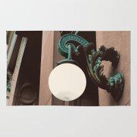green lantern Area & Throw Rugs featuring Green Lantern by Brooke Copani