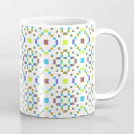 Geometric Pattern Vibes in Green Coffee Mug