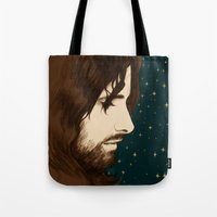 aragorn Tote Bags featuring Aragorn by cos-tam
