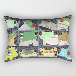 Frogs vertical Rectangular Pillow