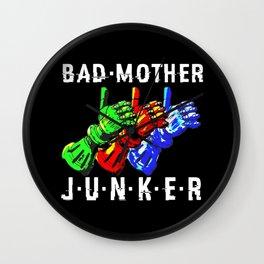 Bad Mother Junker Black Wall Clock