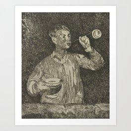 Child Blowing Bubbles Lenfant aux bulles de savon Edouard Manet 1832 - 1883 Art Print