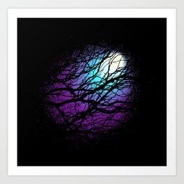 lights in the forest Art Print