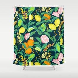 citrus fruits print Shower Curtain