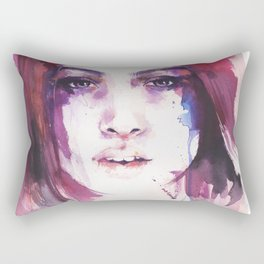 A girl from the other side of the street Rectangular Pillow