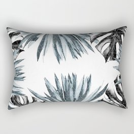 Geometric agave & monstera Rectangular Pillow