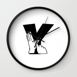 British sign language Letter Y Wall Clock