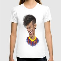 neymar T-shirts featuring Neymar - Barcelona by Sant Toscanni