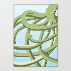 Octopus green Canvas Print