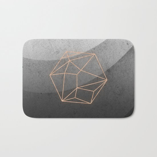 Geometric Solids on Marble Bath Mat