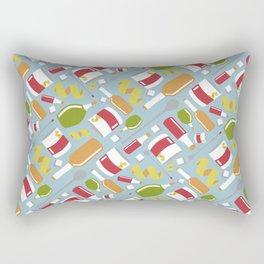 Sazarac Blue Rectangular Pillow