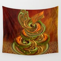 cake Wall Tapestries featuring Swirly cake by Giada Rossi