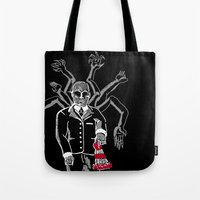 waldo Tote Bags featuring WHERE IS WALDO! by ANZAVACK - THE EMPEROR OF EXTRAVAGANCE
