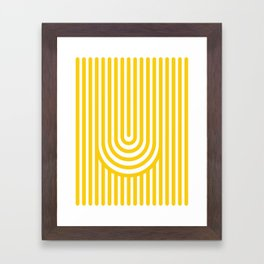 U, Framed Art Print