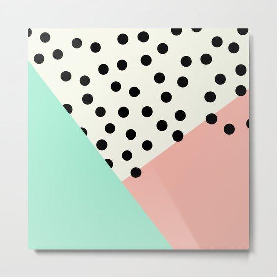 Mod Blush and Dots Metal Print