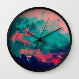 Painted Clouds IV Wall Clock