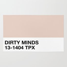 dirty minds Rug