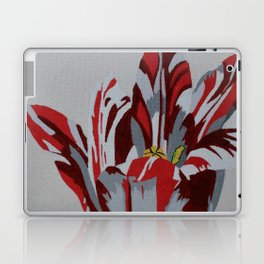 Red & White Tulip Laptop & iPad Skin