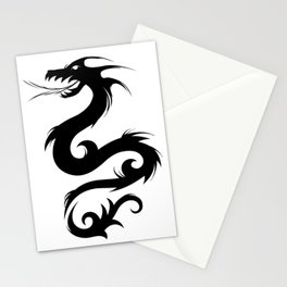 Dragon Silhouette 4 Stationery Cards