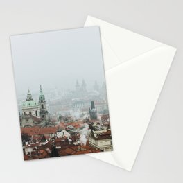 Cold Mornings over Prague Stationery Cards