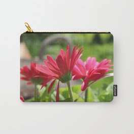 Pink Daisies Carry-All Pouch