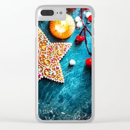 Christmas Treats Clear iPhone Case