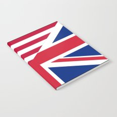 American and Union Jack Flag Notebook