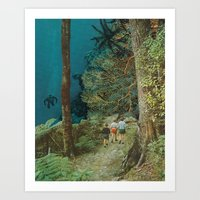 wander Art Prints featuring Wander by leafandpetal