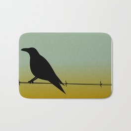 Crow on a (Barbed) Wire Bath Mat