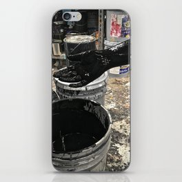 velour black iPhone Skin