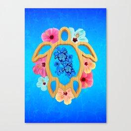 Hawaiian Blue Honu Sea Turtle Canvas Print