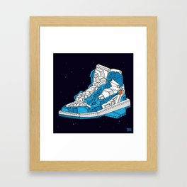 """air"" blue Framed Art Print"