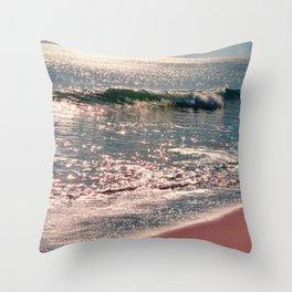 Sparkle Morning Sea Throw Pillow