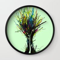 creativity Wall Clocks featuring Creativity by Tobe Fonseca