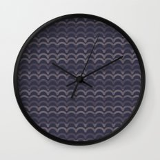 Purple Circles Wall Clock