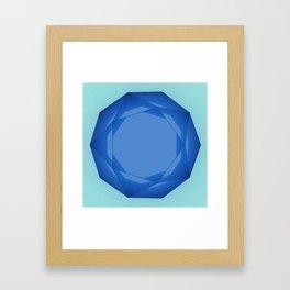 Blue Gem Framed Art Print