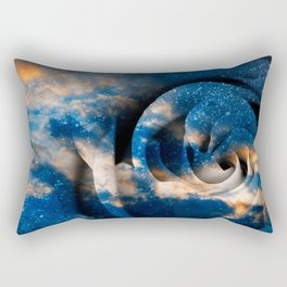 Phoenix Fury Rose Rectangular Pillow