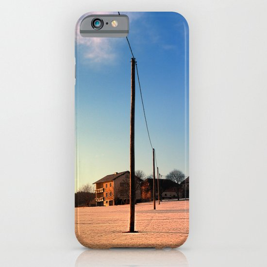 Powerline, sundown and winter wonderland | landscape photography iPhone & iPod Case
