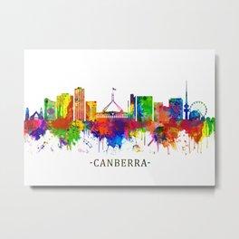 Canberra Australia Skyline Metal Print