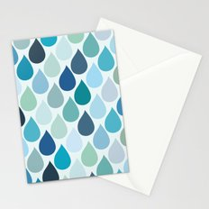 Blue rain Stationery Cards