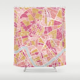Cracow map Shower Curtain