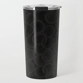Black spiraled coils Travel Mug