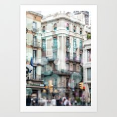 Barceona in pastel colors Art Print