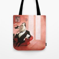 the godfather Tote Bags featuring The Godfather Tribute by Daniela Volpari