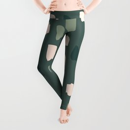 Paintbrush Green Rose Leggings