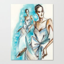 Bridal fashion sketch Canvas Print