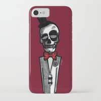 gentleman iPhone & iPod Cases featuring Gentleman by Skullmuffins