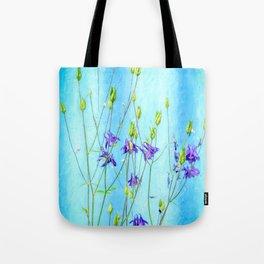 Dark Blue Delphinium Soft Oil Style Tote Bag