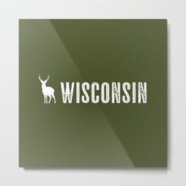 Deer: Wisconsin Metal Print